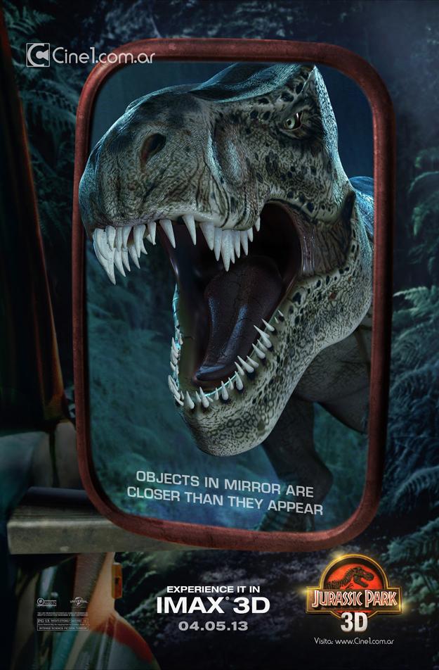Jurassic Park 3D Retroviseur